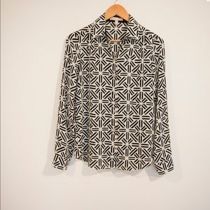 Banana republic Black and white shirt